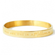 "Pulseras Acero Inox ""YOU ARE ONE IN A MILLION"" oro"
