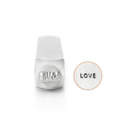 "ImpressArt Sellos con figura ""Love"" 6mm plata"