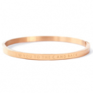 "Pulseras acero inox ""I LOVE YOU TO THE MOON AND BACK"" Oro rosado"