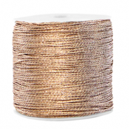 Hilo macramé metálico 0.5mm Crema marfil taupe