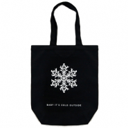 "Bolsos Fashion canvas ""baby it's cold outside"" Negro"