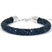 Pulseras Crystal Diamond 8mm azul montana