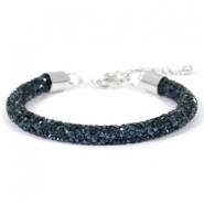 Pulseras Crystal Diamond 7mm azul montana