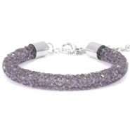 Pulseras Crystal Diamond 8mm púrpura velvet