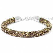 Pulseras Crystal Diamond 7mm greige-bronce