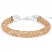 Pulseras Crystal Diamond 8mm topacio ahumado