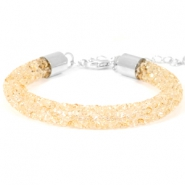 Pulseras Crystal Diamond 8mm beige bisque