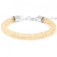 Pulseras Crystal Diamond 7mm beige bisque