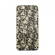 Funda de móvil para iPhone 5 lace transparente - negro