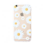 Funda de móvil Trendy para iPhone 7 margaritas transparente-blanco amarillo
