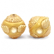 Abalorios Bohemios 14mm amarillo-dorado Golden coast